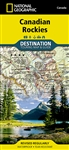 Canadian Rockies Destination Touring Map & Guide. The front side of the Canadian Rockies DestinationMap reveals a map of the Alberta-British Columbia border region in the range's southern half, which is home to the many beautiful and accessible parks for