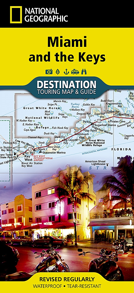 Map Of Florida Keys And Miami.Miami And The Keys National Geographic Destination Map