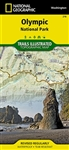 Washington National Parks Map Pack by National Geographic has 3 waterproof and tear resistant maps in this pack.  Olympic National Park includes Blue Mountain, Buckhorn Wilderness, Clearwater River, Colonel Bob Wilderness, Elwha River, Hoh River, Lake Cre