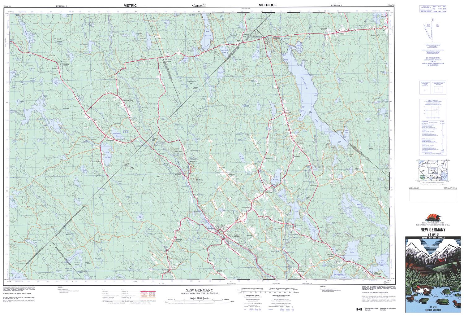 021A10 - NEW GERMANY - Topographic Map
