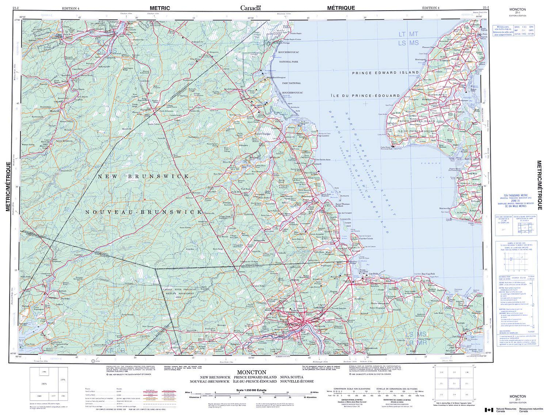 021i Moncton Topographic Map