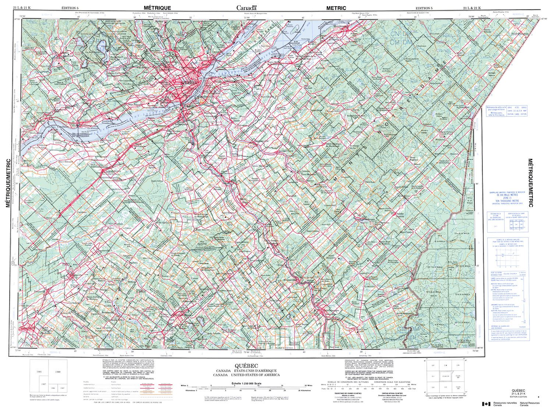 Quebec Topographic Map.021l Quebec Topographic Map