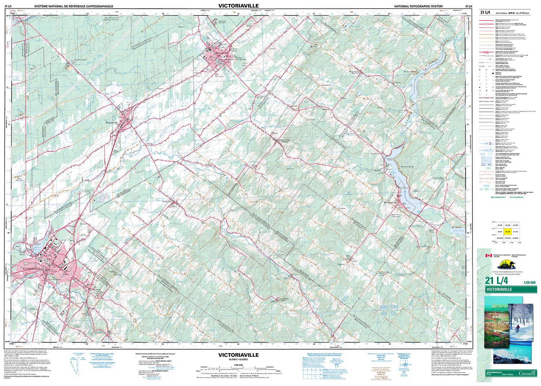 Quebec Topographic Map.021l04 Victoriaville Topographic Map