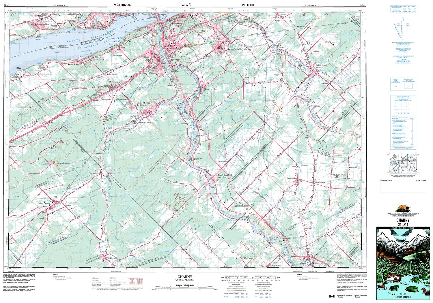 Quebec Topographic Map.021l11 Charny Topographic Map