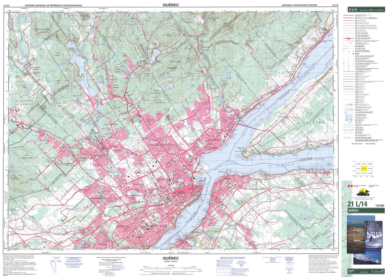 Quebec Topographic Map.021l14 Quebec Topographic Map