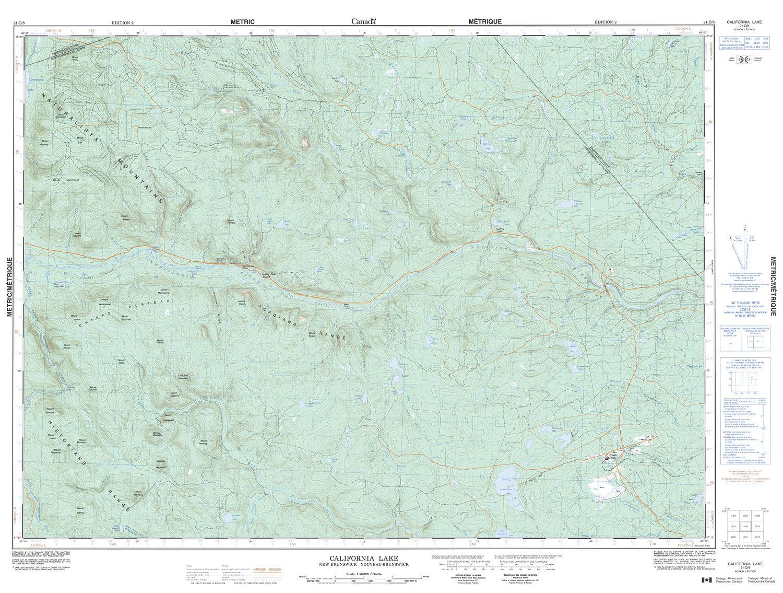 021o08 California Lake Topographic Map