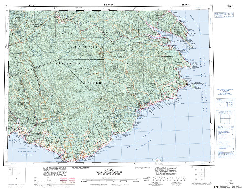 Gaspe Canada Map.022a Gaspe Topographic Map