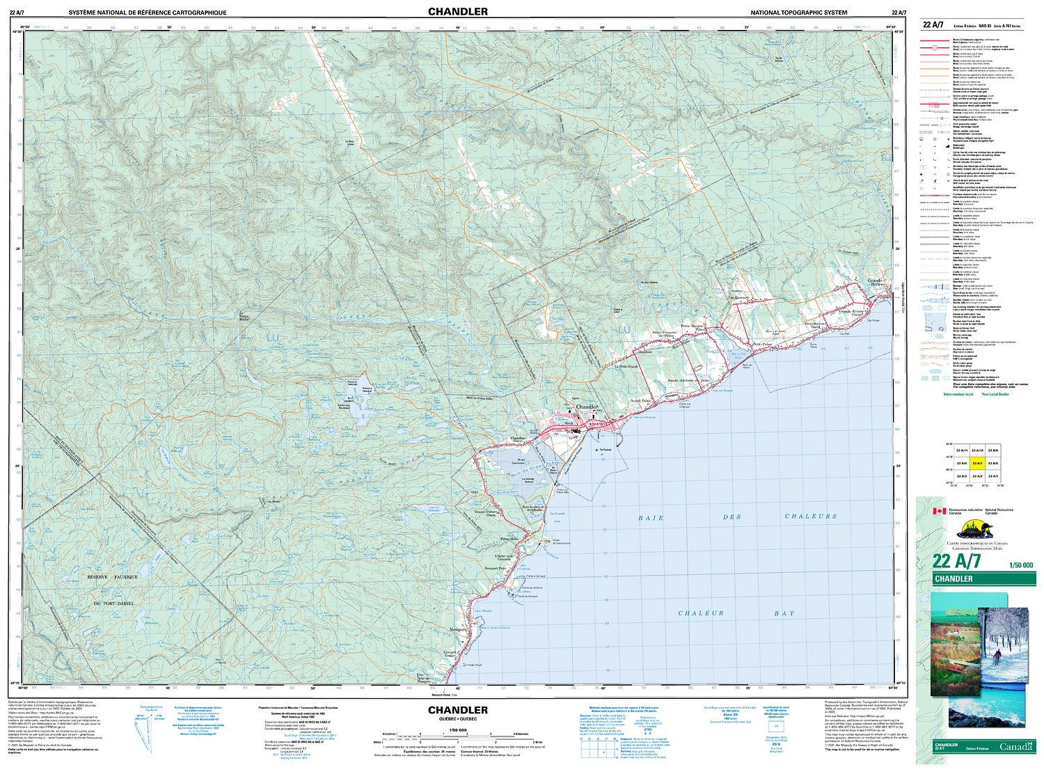 022A07 - CHANDLER - Topographic Map on