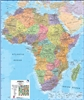 Africa Maps International Wall Map. This political wall map of Africa features countries marked in different colours, with international borders clearly shown. The map's key shows a panel of flags from each of the countries displayed in this African conti