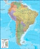 South America Maps International Wall Map