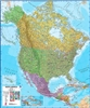 North America Wall Map with Flags. This political wall map of North America features countries of Canada, the USA, Mexico along with many in Central America. Each country is shown in different colours, international boundaries and major transport networks