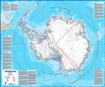 Antarctica Wall Map LARGE. Our Antarctica map includes information from the British Antarctic Survey on scientific research. Information on Antarcticas climate and resources is included and as you would expect with a political map, the territory division