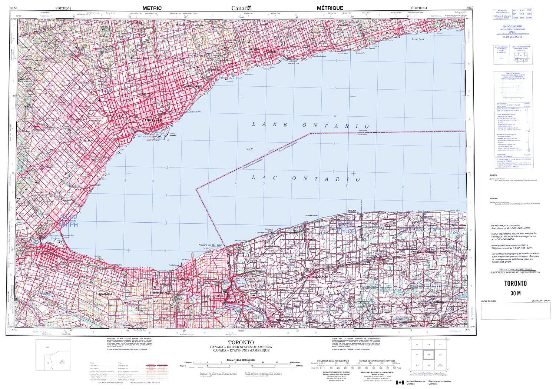 030m Toronto Topographic Map
