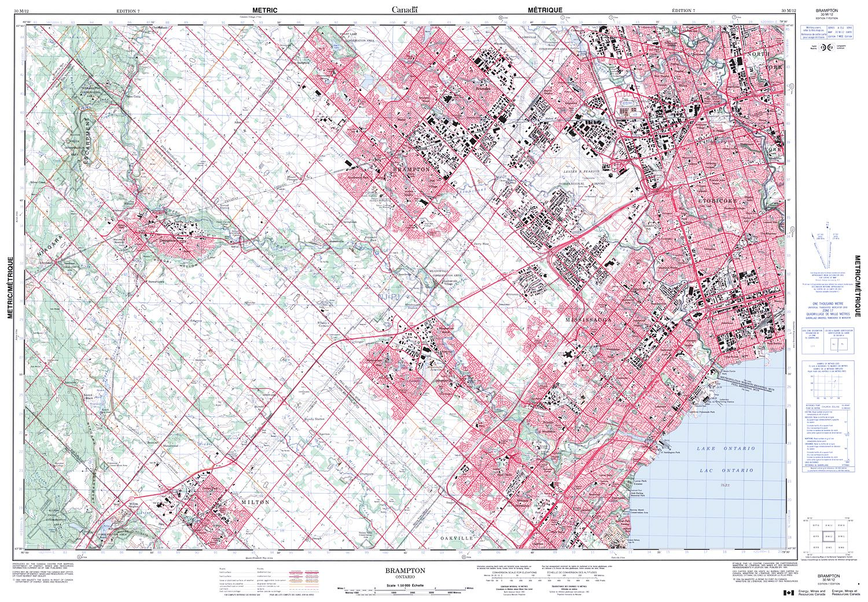 Brampton Canada Map.030m12 Brampton Topographic Map