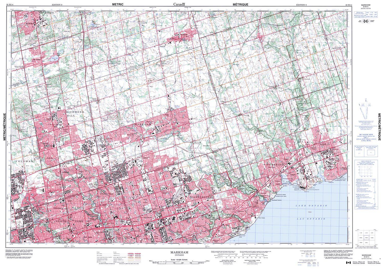 Ontario Topographic Map.030m14 Markham Topographic Map