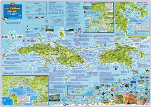 US Virgin Islands Travel Map