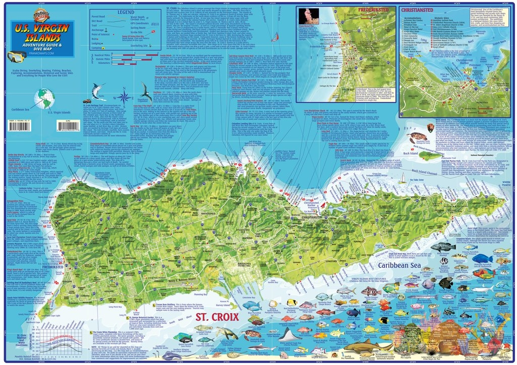 US Virgin Islands Travel Map