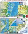 Cancun & Maya Riviera waterproof map. Guide Map of Cancun and the Riviera Maya has all kinds of information covering everything there is to see and do in Cancun and the Riviera Maya. One side shows Cancun and the Riviera Maya and focuses on Cancuns hotel