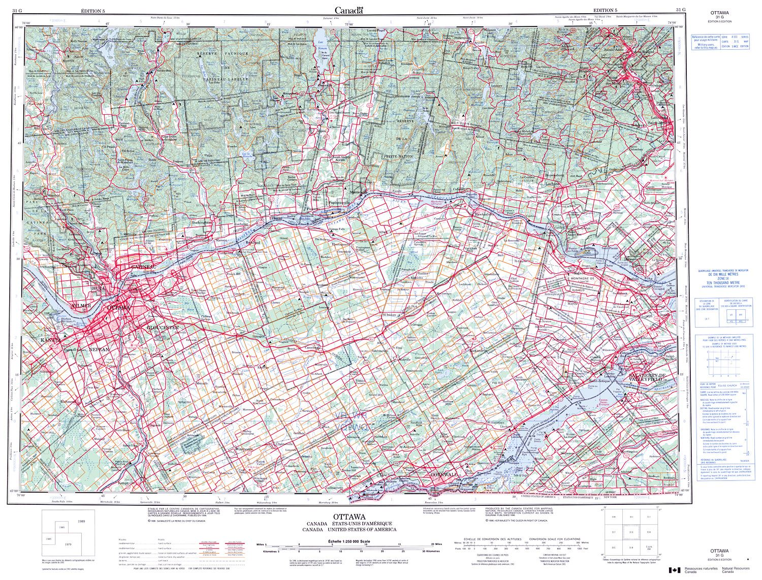 031g ottawa topographic map