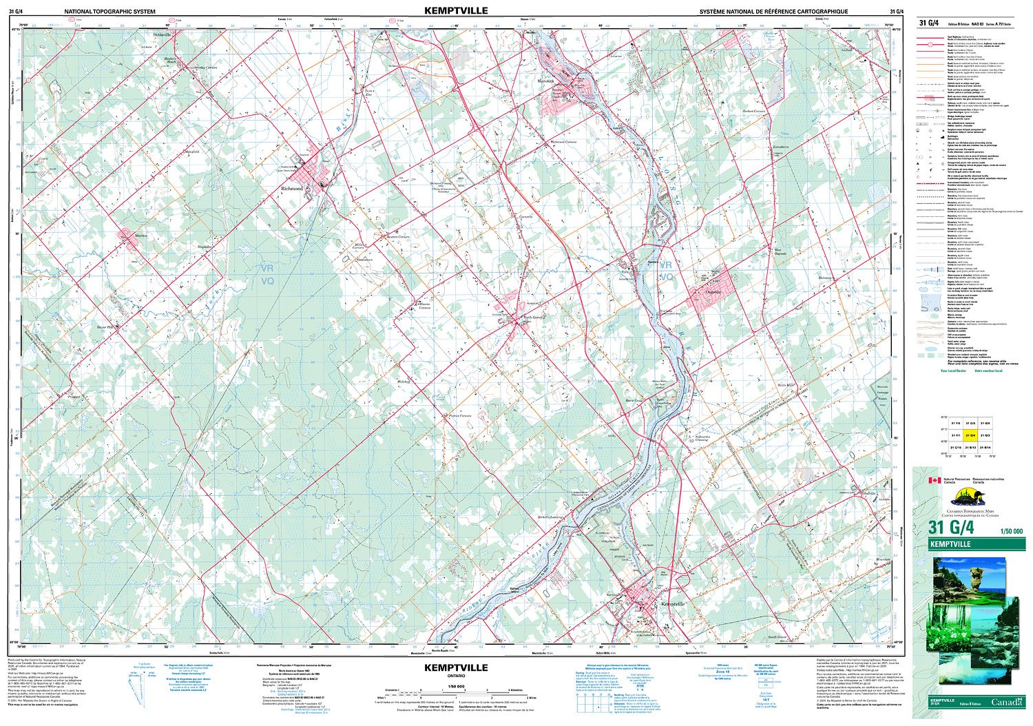 Map Of Kemptville Ontario Canada 031G04   KEMPTVILLE   Topographic Map