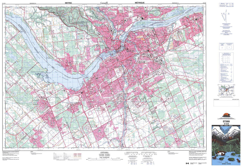 Map Of Ottawa Canada.031g05 Ottawa Topographic Map