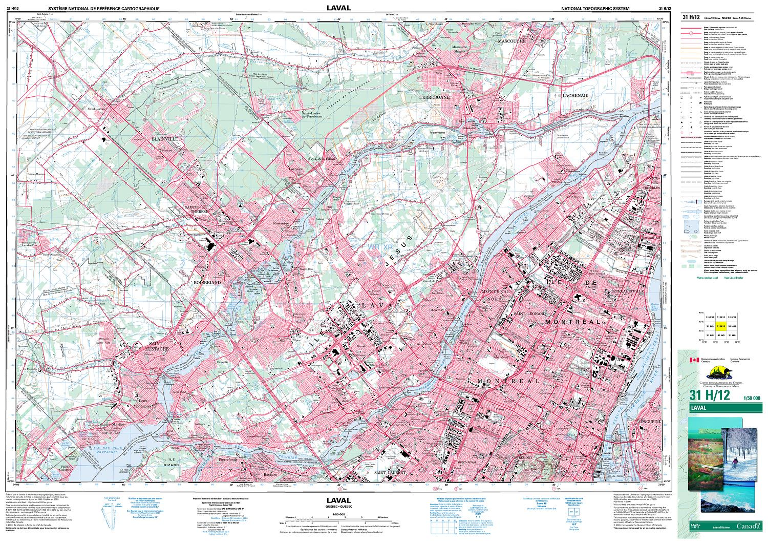 Quebec Topographic Map.031h12 Laval Topographic Map