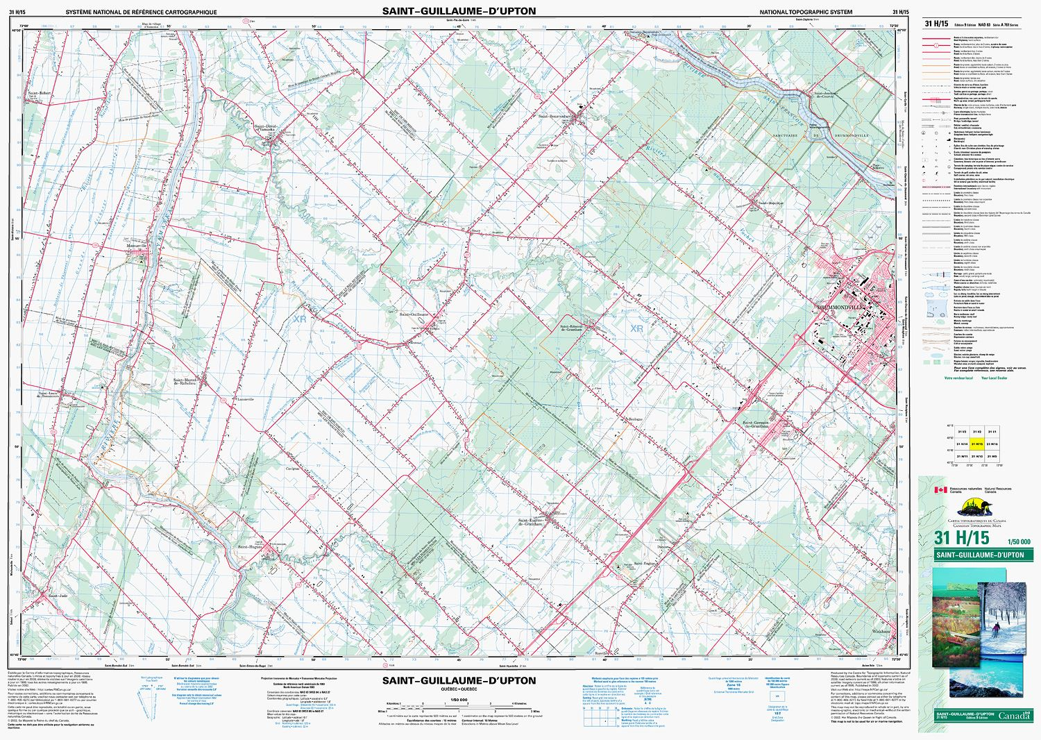 Quebec Topographic Map.031h15 Saint Guillaume D Upton Topographic Map