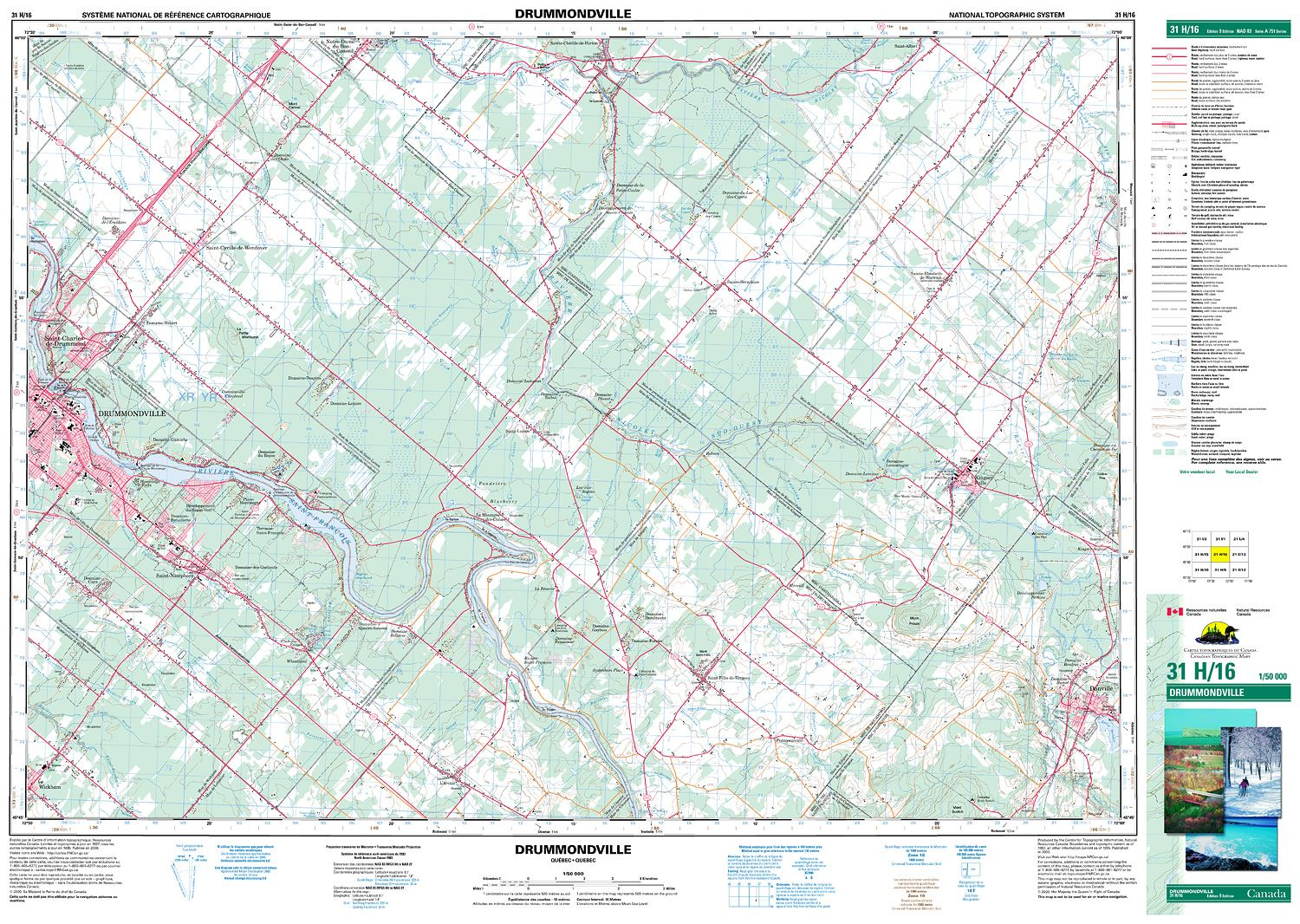 DRUMMONDVILLE Topographic Map