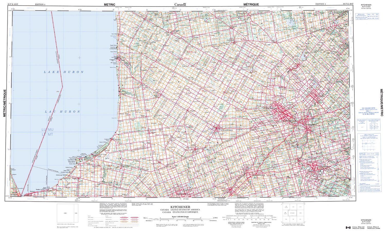 Map Of Canada Kitchener.040p Kitchener Topographic Map