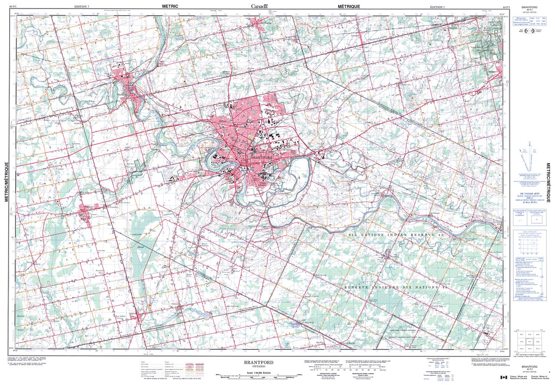 BRANTFORD Topographic Map