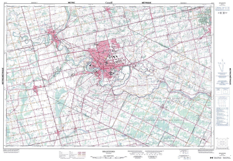 Ontario Topographic Map.040p01 Brantford Topographic Map