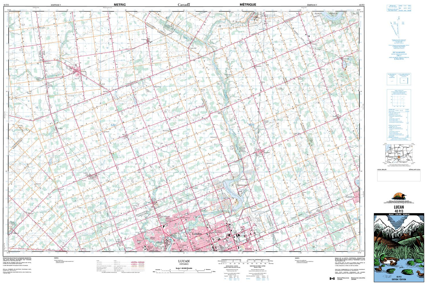 Ontario Topographic Map.040p03 Lucan Topographic Map