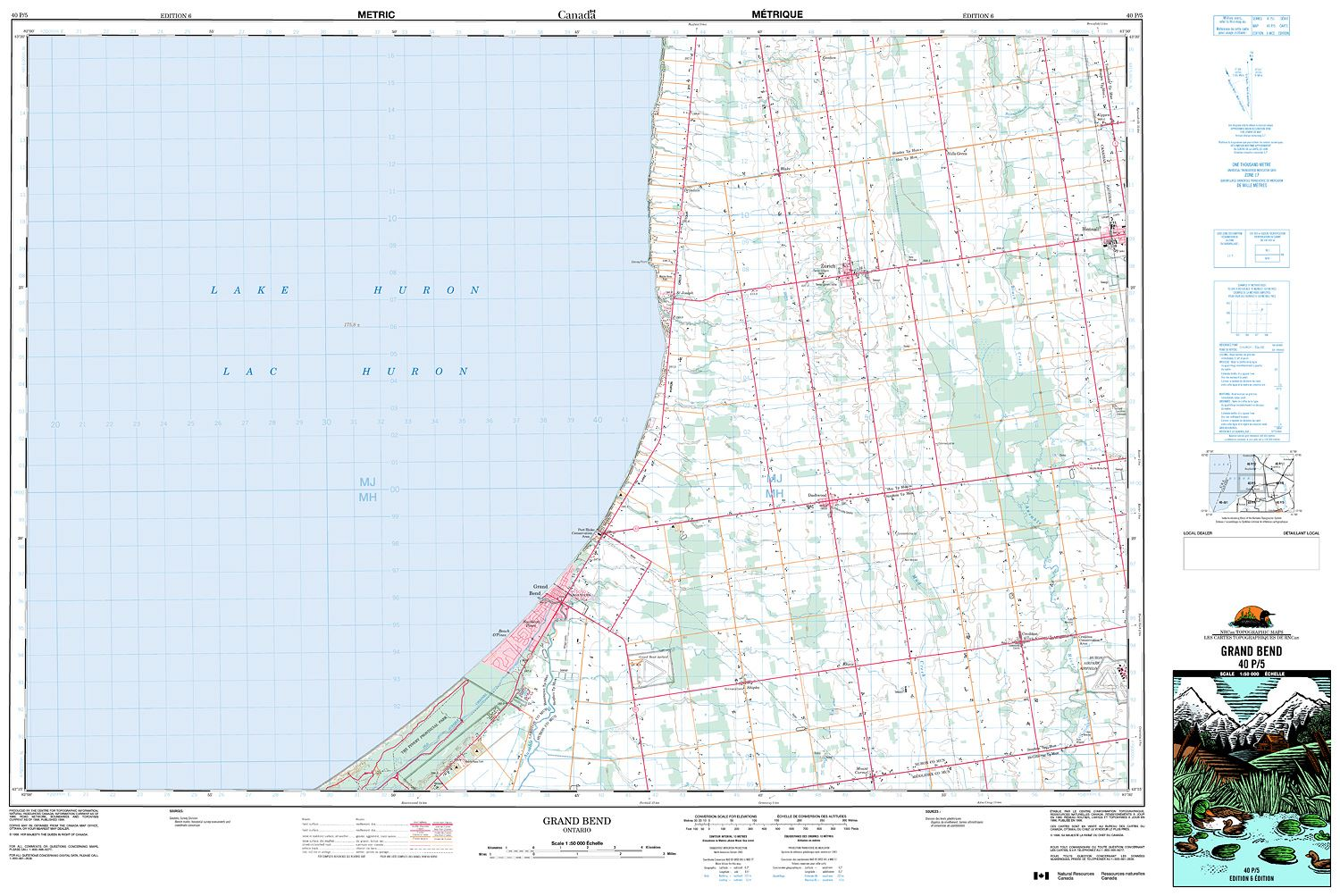 Grand Bend Map 040P05   GRAND BEND   Topographic Map