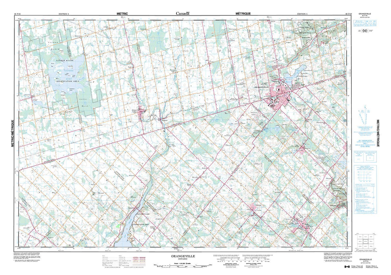 ORANGEVILLE Topographic Map