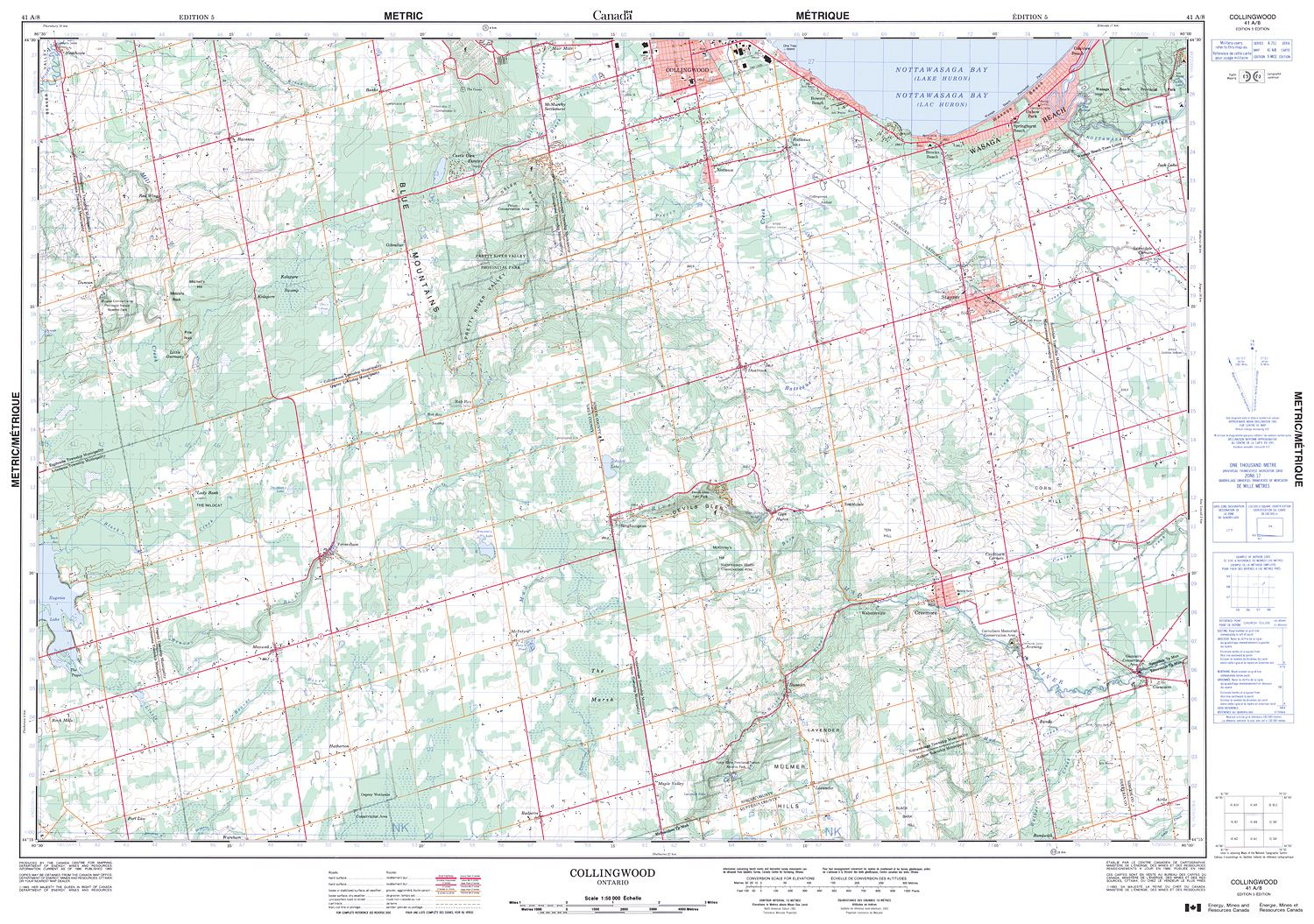 Ontario Topographic Map.041a08 Collingwood Topographic Map