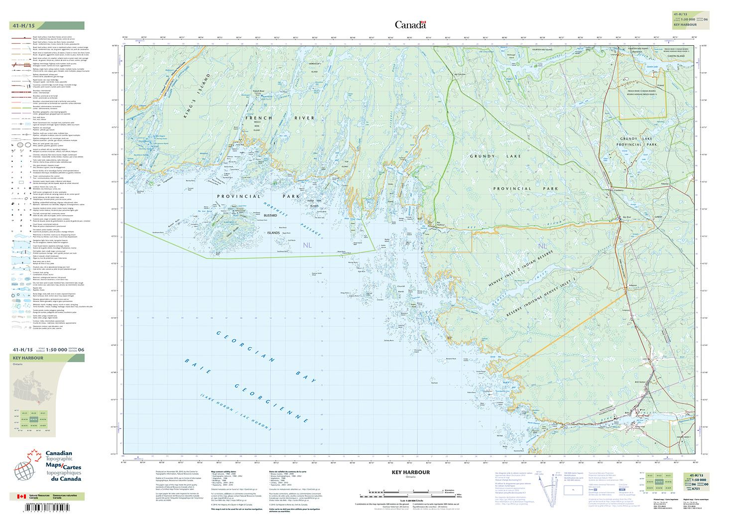 041h15 Key Harbour Topographic Map