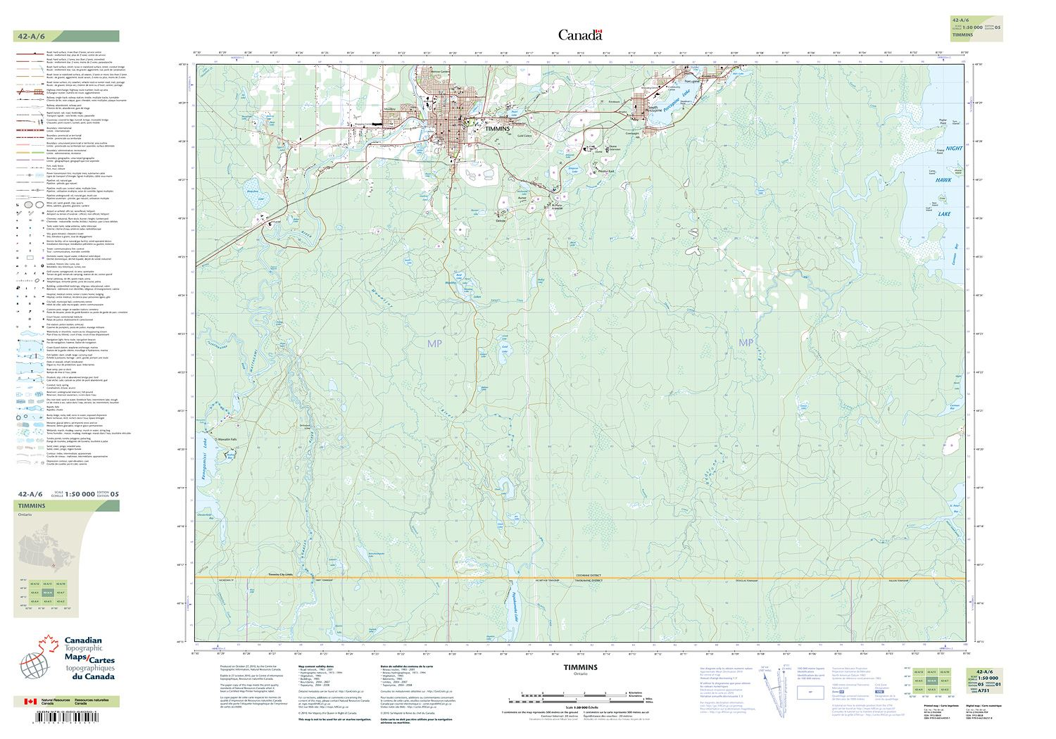 TIMMINS Topographic Map