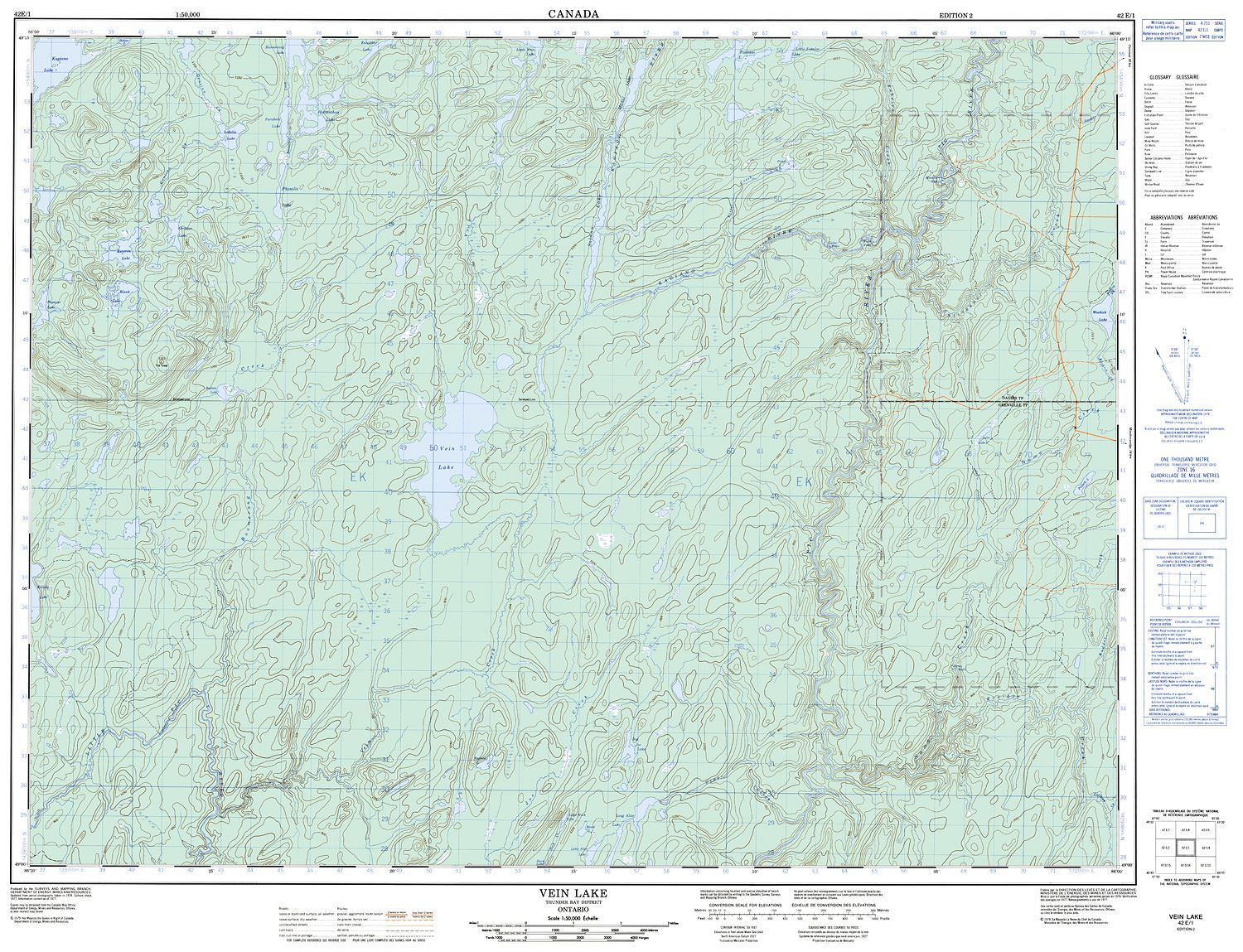 042e01 Vein Lake Topographic Map
