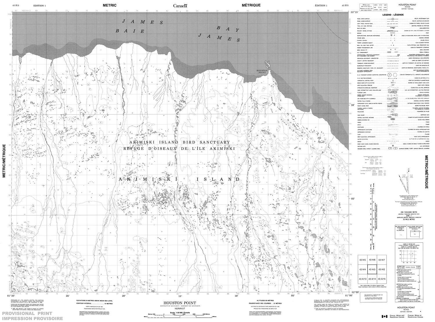 043h03 Houston Point Topographic Map
