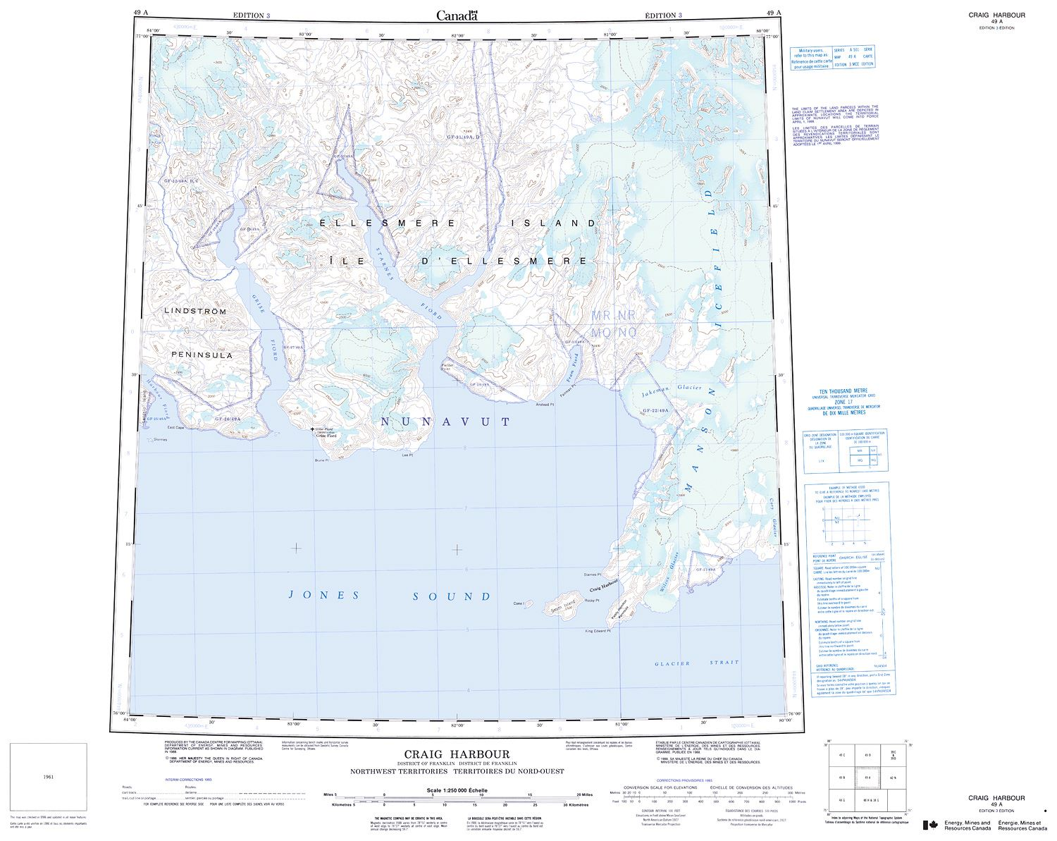 049a Craig Harbour Topographic Map