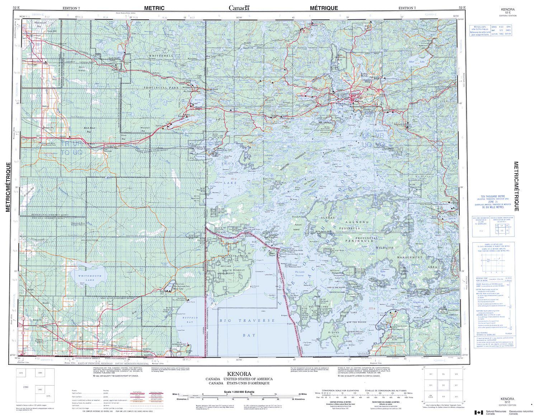 Map Of Kenora Canada.052e Kenora Topographic Map