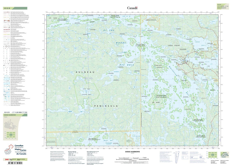 052E08 - SIOUX NARROWS - Topographic Map