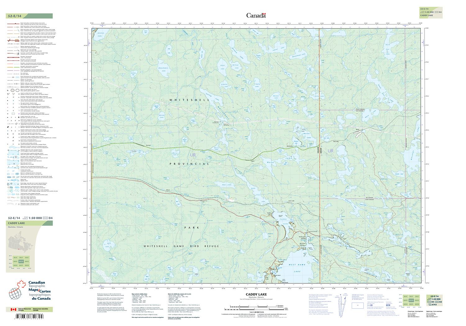 Topographic Map Game.052e14 Caddy Lake Topographic Map