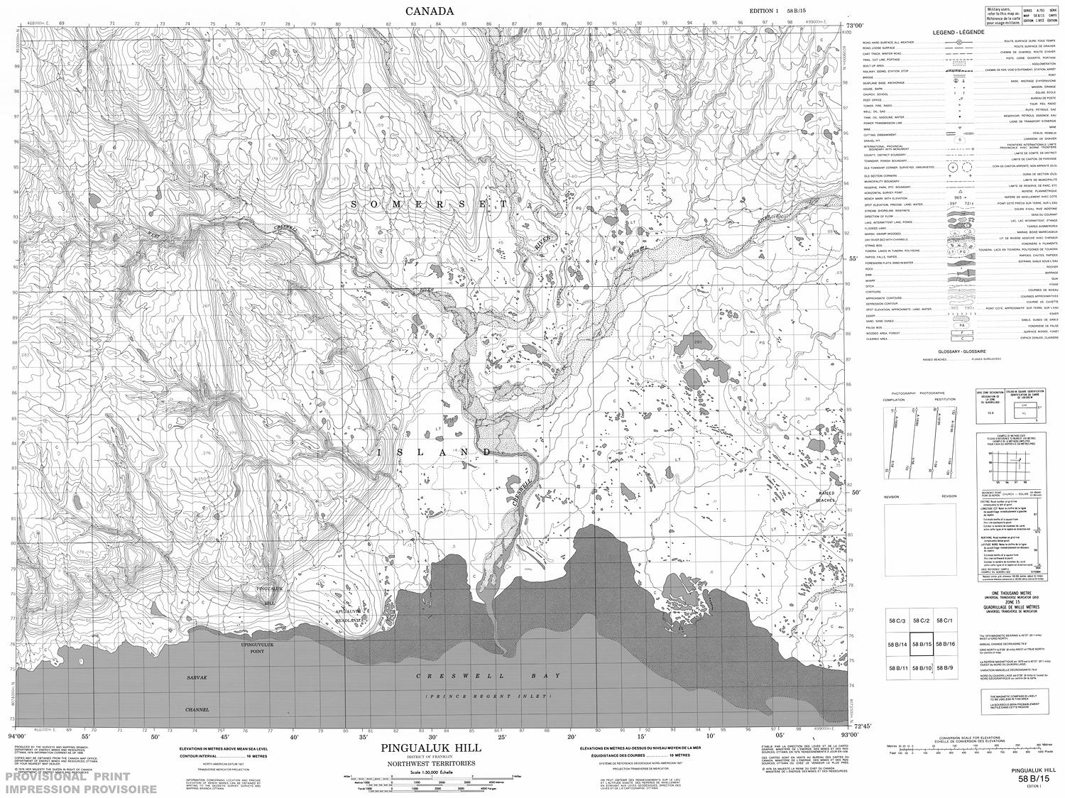 Hill Topographic Map.058b15 Pingualuk Hill Topographic Map