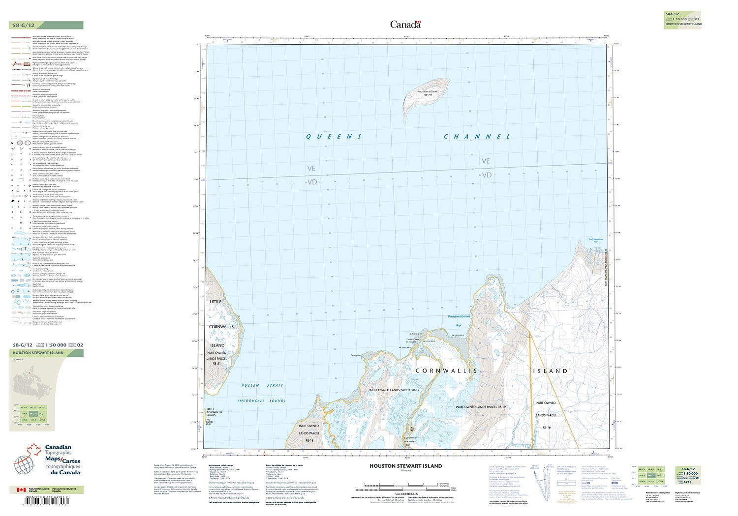 058g12 Houston Stewart Island Topographic Map