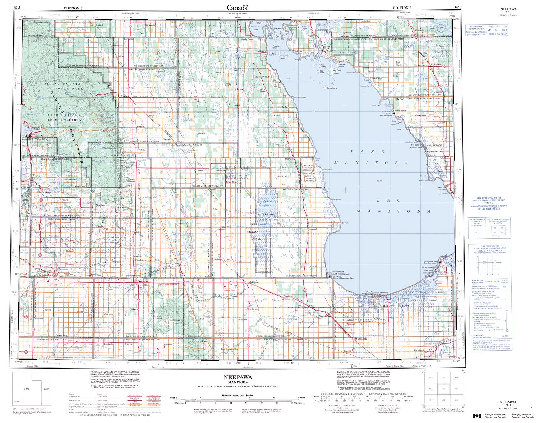 062J - NEEPAWA - Topographic Map