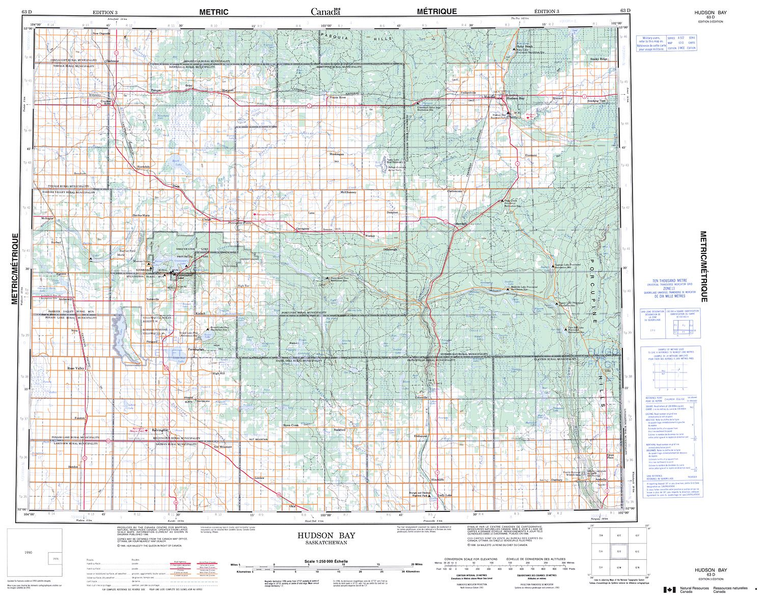 063D - HUDSON BAY - Topographic Map
