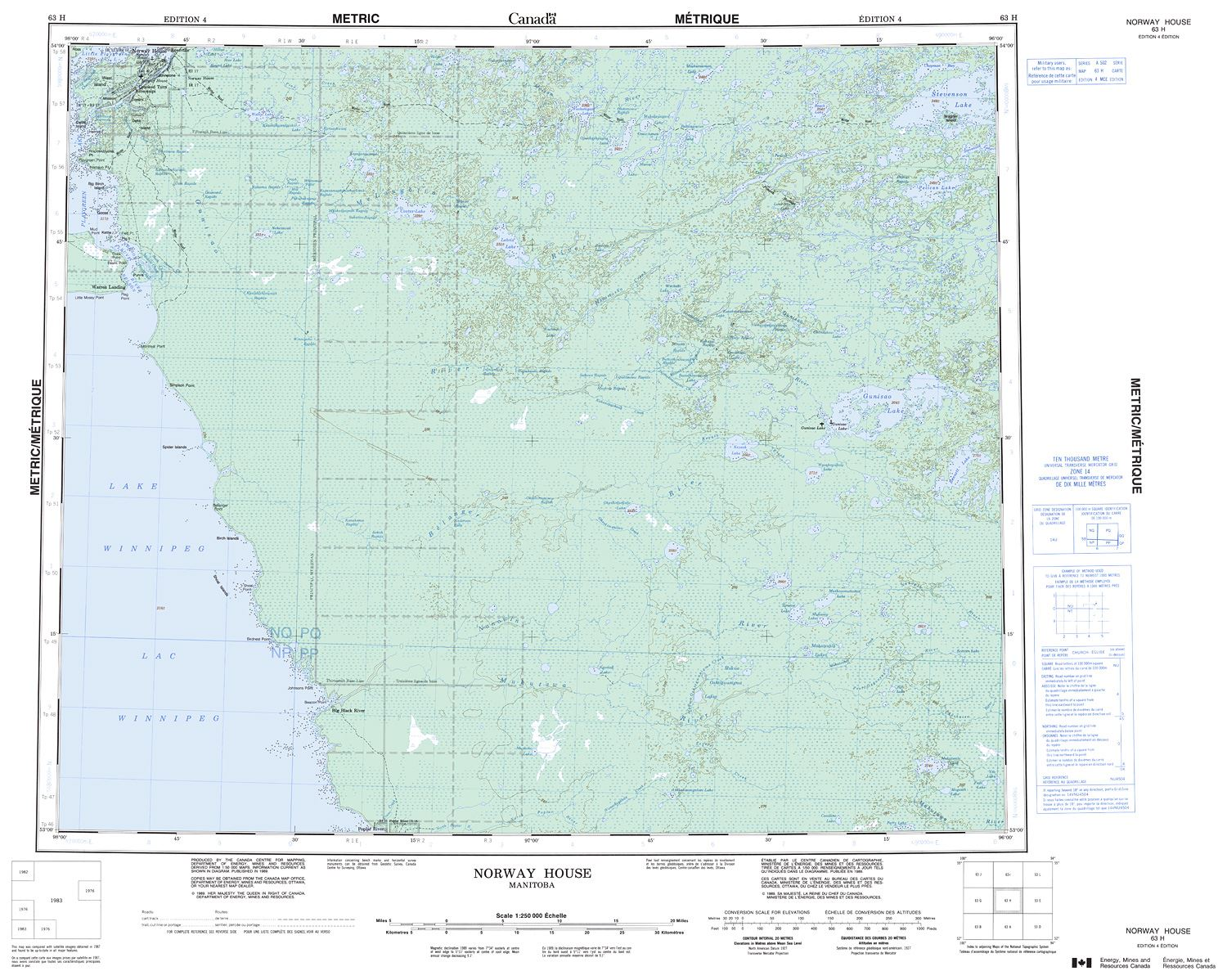Topographic Map Of Norway.063h Norway House Topographic Map