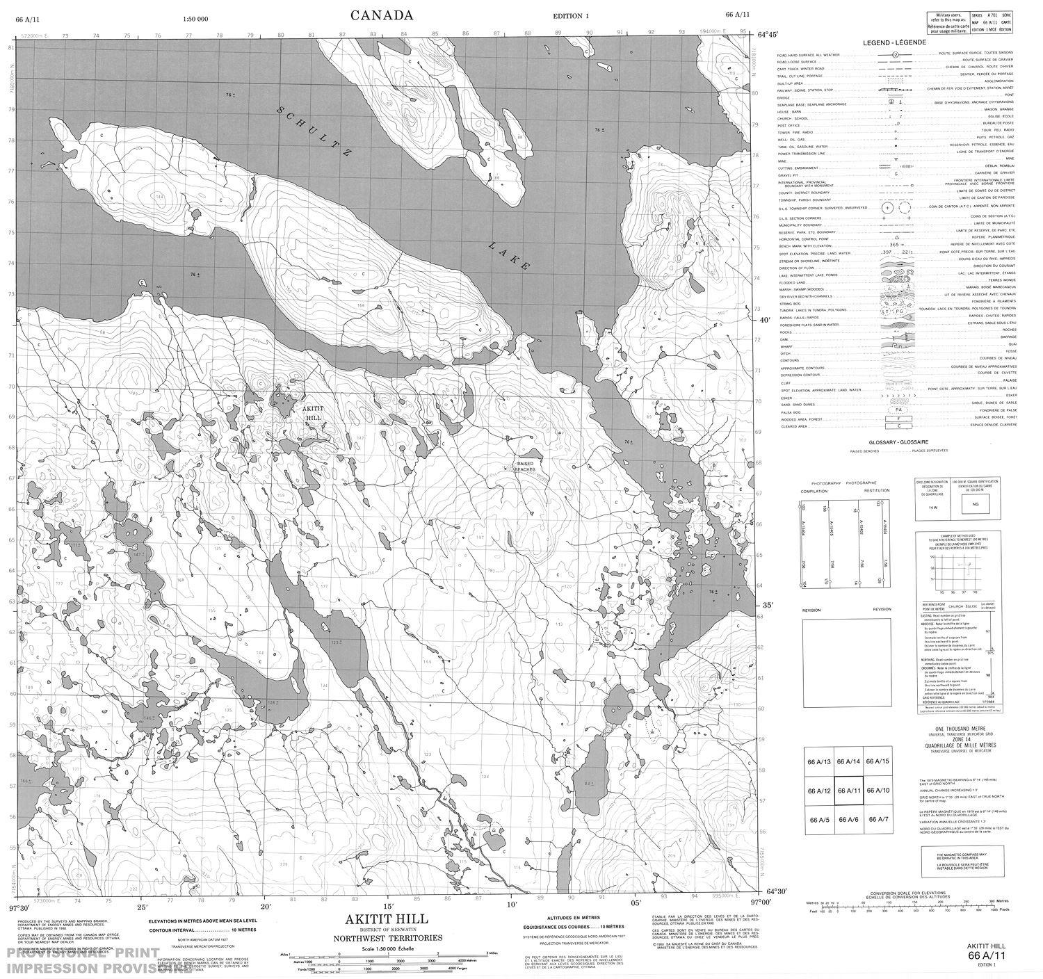 Hill Topographic Map.066a11 Akitit Hill Topographic Map