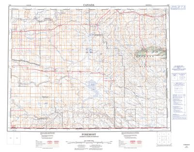072E - FOREMOST - Topographic Map